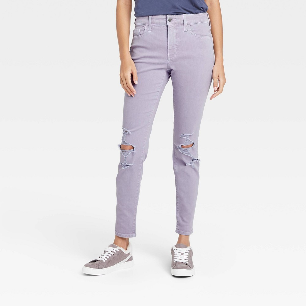 Women 39 S High Rise Skinny Stretch Ankle Jeans Universal Thread 8482 Lilac 2