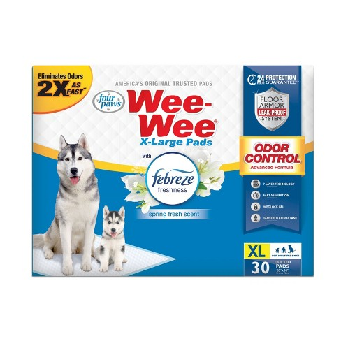 Four Paws Wee-Wee Febreze Pads - XL - White - 30ct - image 1 of 4