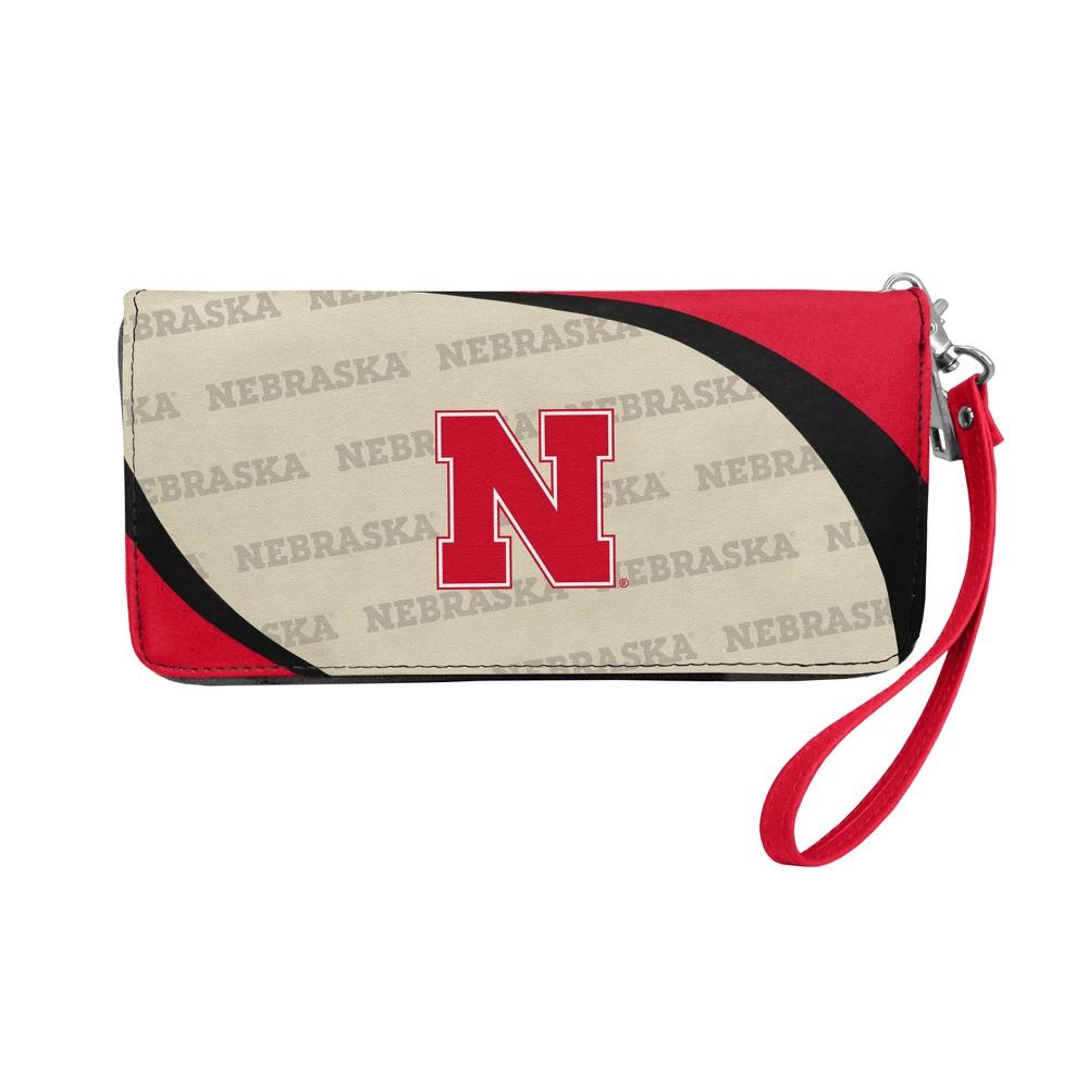 NCAA Nebraska Cornhuskers Little Earth Curve Zip Organizer Wallet, Adult Unisex