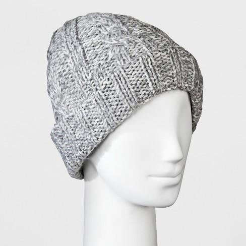 Women s Cable Knit Fleece Lining Beanie - Universal Thread™   Target 9970f9d00de