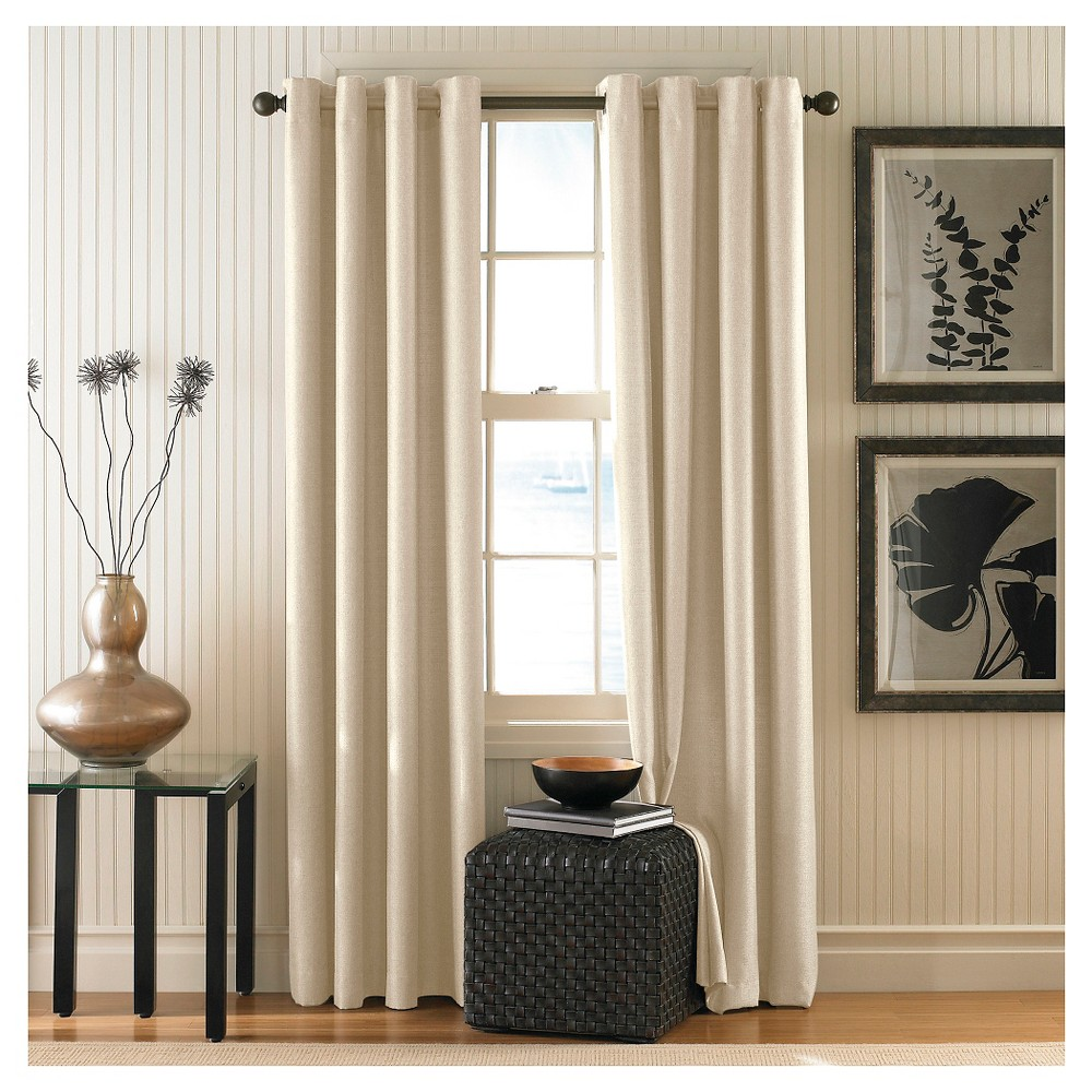 Curtainworks Monterey Lined Curtain Panel - Alabaster (95)