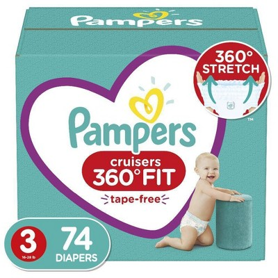 Pampers Cruisers 360 Disposable Diapers Enormous Pack (Select Size)