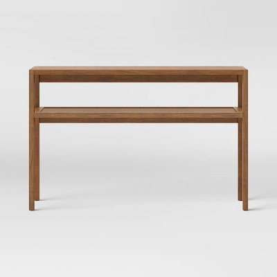 Warwick Narrow Console Table with Shelf Brown - Threshold™