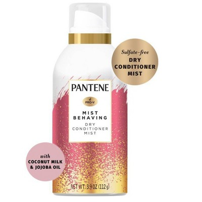 Pantene Paraben Free Mist Behaving Dry Conditioner Mist with Coconut Milk & Jojoba Oil - 3.9oz