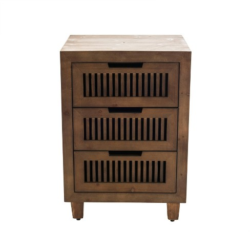Sawyer 3 Drawer Cabinet Brown - Finch - image 1 of 4