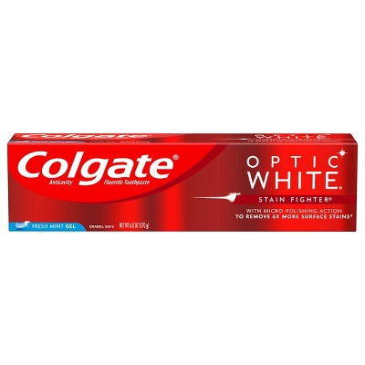 Colgate Optic White Stain Fighter Teeth Whitening Toothpaste - Fresh Mint Gel - 6oz
