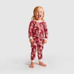 Burt's Bees Baby® Toddler Etched Evergreens Organic Cotton Pajama Set - Red