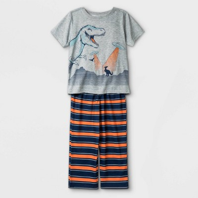 Boys' 2pc Dino Pajama Set - Just One You® made by carter's Gray