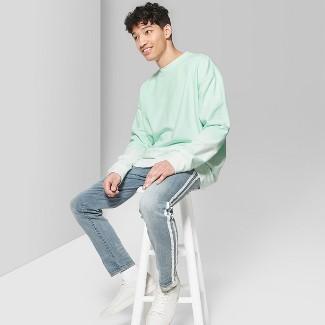Men's Tie Dye Regular Fit Long Sleeve French Terry Pullover Sweatshirt - Original Use™ Moonlight Jade M