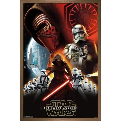 Trends International Star Wars: The Force Awakens - Dark Side Framed Wall Poster Prints