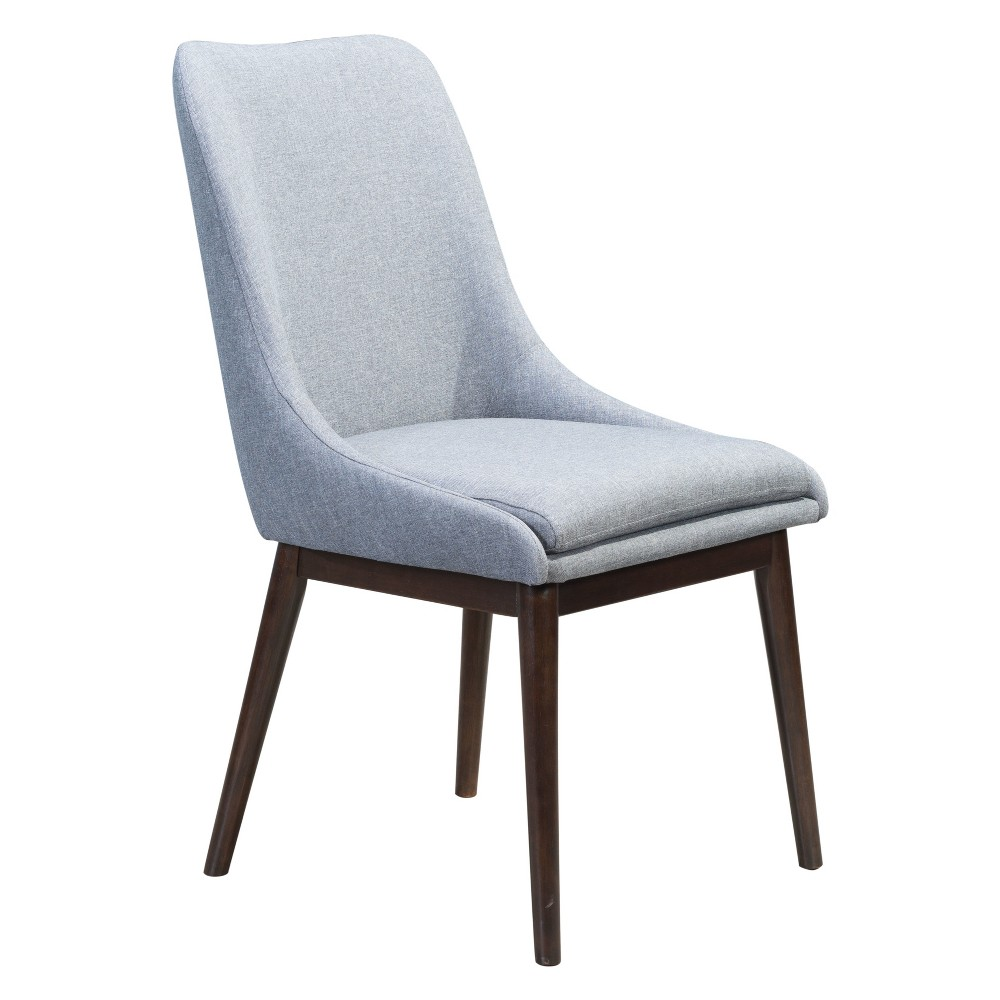Modern Dining Chair Set of 2 Charcoal Gray - ZM Home