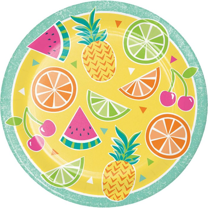 24ct Summer Fruit Disposable Paper Plates - image 1 of 1