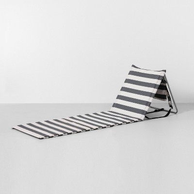 Travel Beach Lounge Mat Stripe Gray / White - Hearth & Hand™ with Magnolia