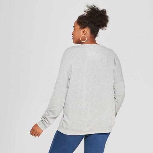 14b9b9b329f Women s Disney Plus Size Mickey Mouse Graphic Pullover Sweatshirt (Juniors )  Gray   Target
