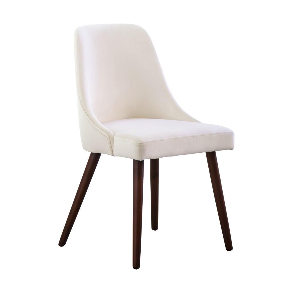 Francine Velvet Dining Chair Ivory - Abbyson Living