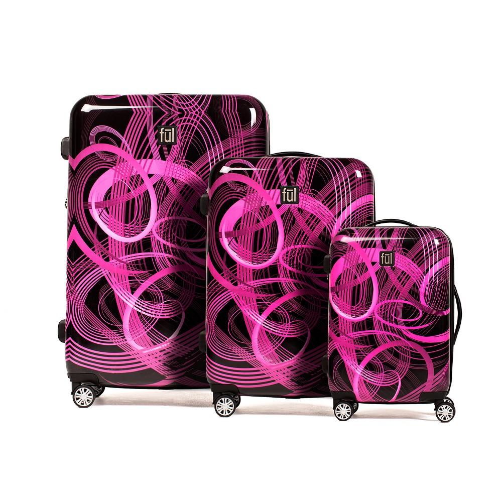 Ful 3pc Hardside Spinner Luggage Set - Atomic Pink
