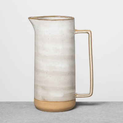 Reactive Glaze Stoneware Pitcher Gray - Hearth & Hand™ with Magnolia