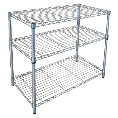 Adjustable 3-Tier Wide Wire Shelving - Chrome - Room Essentials™