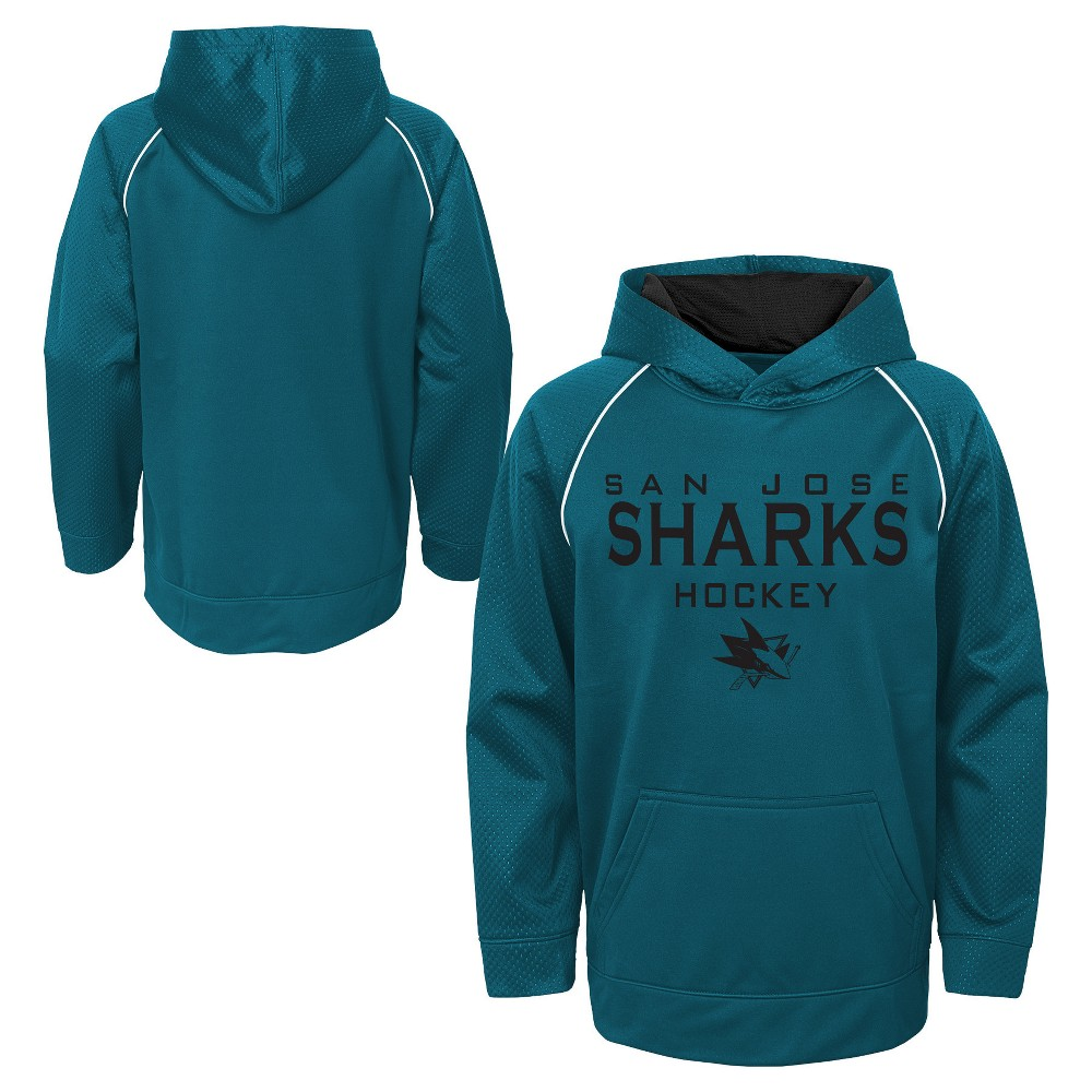 San Jose Sharks Boys' Shorthand Poly Embossed Hoodie XS, Multicolored