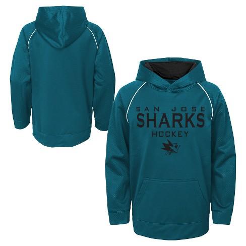 b0cf55d34 NHL San Jose Sharks Boy s Shorthand Poly Embossed Hoodie. Shop all NHL