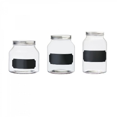 Amici Home Venice Glass Storage Canister, Assorted Set of 3 Sizes