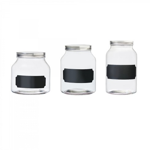 Amici Home Venice Glass Storage Canister, Assorted Set of 3 Sizes - image 1 of 4