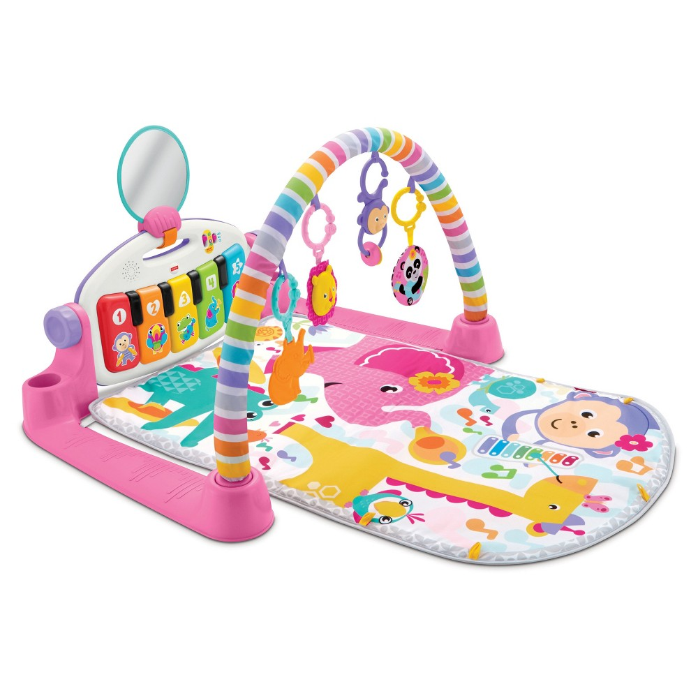 Image of Fisher-Price Deluxe Kick & Play Piano Gym Playmat - Pink