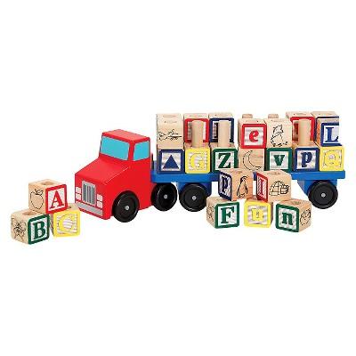 Melissa & Doug® Alphabet Blocks Wooden Truck Educational Toy