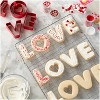Wilton 4pc Metal Love Cookie Cutter Set Red - image 2 of 4