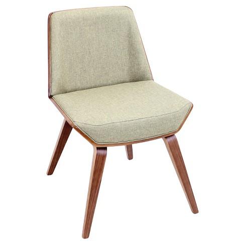 Corazza Mid Century Modern Chair In Walnut Wood Lumisource