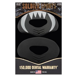 Soldier Sports Lip Protector Mouthguards - 2pk - Black