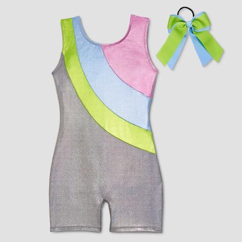 c4fe2681776f Freestyle By Danskin Girls  Biketards - Silver   Target