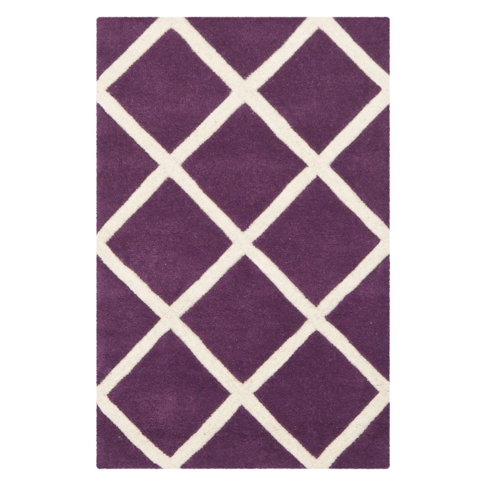 2X3 Geometric Tufted Accent Rug Purple/Ivory - Safavieh Best
