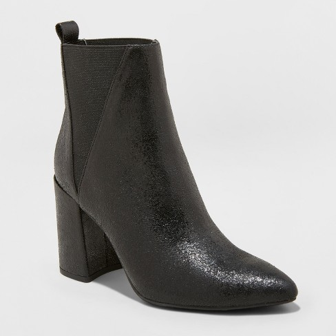 Women's Nikita Metallic Pointed Boots - A New Day™ - image 1 of 3