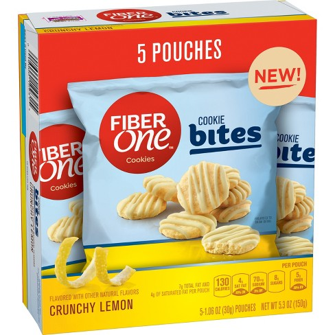 Fiber One Crunchy Lemon Cookie Bites - 5.3oz - image 1 of 1