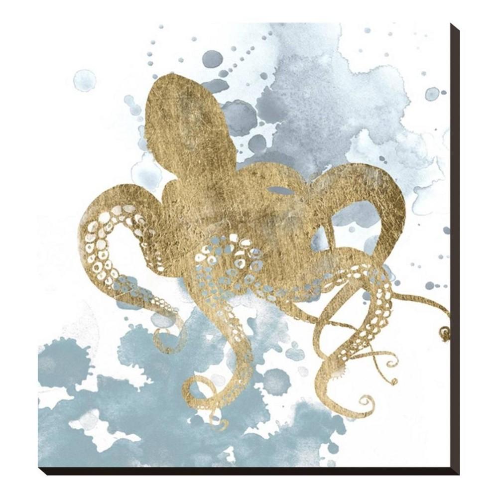 Gilded Splash I Stretched Canvas Print 23x25 - Art.com, Multicolored