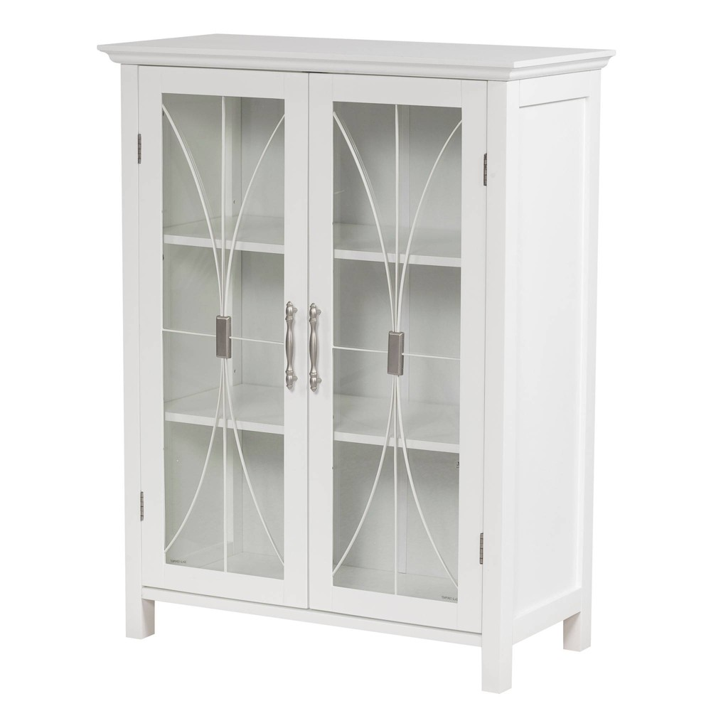 Hayes 2 Door Floor Cabinet White - Elegant Home Fashions