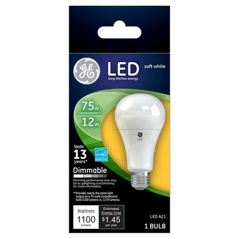 Ge Led 75 Watt Light Bulb Soft White Target