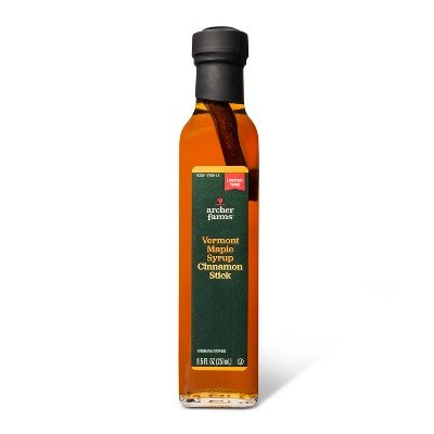Vermont Maple Syrup with Cinnamon Stick - 8.5oz - Archer Farms™