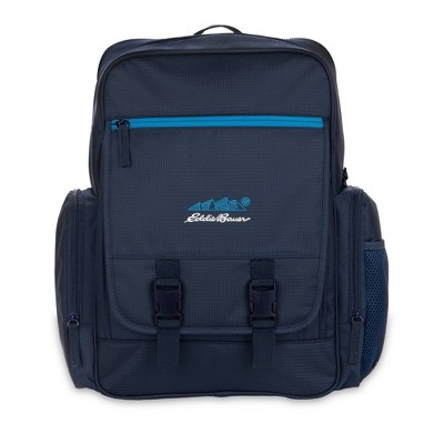 Eddie Bauer Harbor Back Pack Diaper Bag with Ultra Fresh Anti-Microbial Protection - Navy