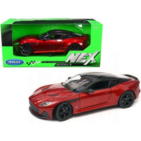Aston Martin Dbs Superleggera Red Metallic With Black Top Nex Models 1 24 Diecast Model Car By Welly Target