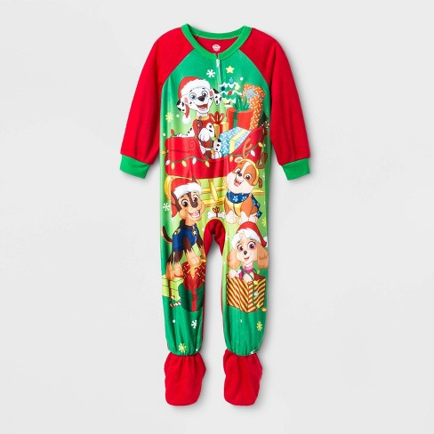Toddler Boys' Paw Patrol Footed Pajama - Red - image 1 of 1