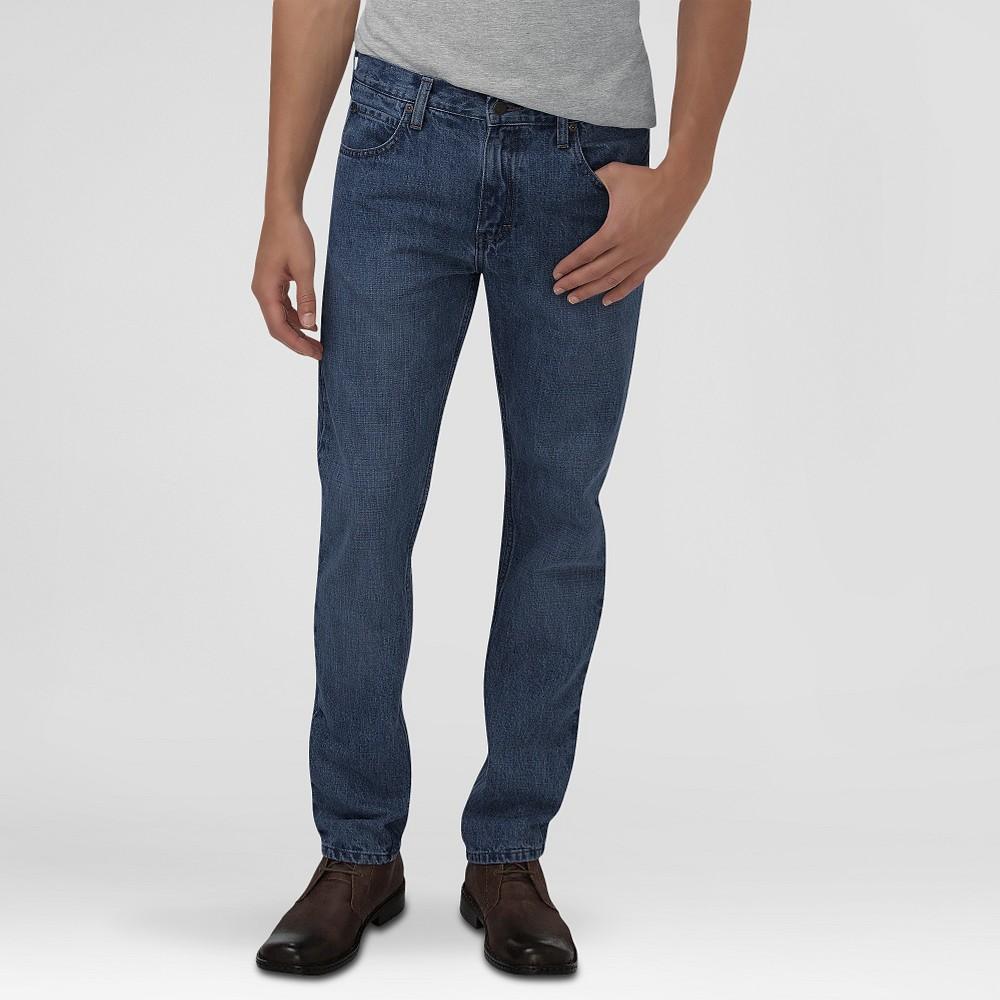Dickies Men's Slim Fit Straight Leg 5-Pocket Pants Medium Indigo 34X32, Denim Blue