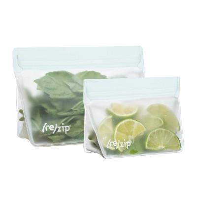 (re)zip Leak-Proof Food Storage Bags - Clear - 2ct