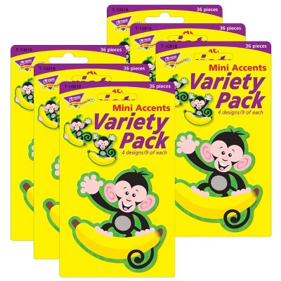 6pk 36 per Pack Monkeys & Bananas Mini Accents - TREND