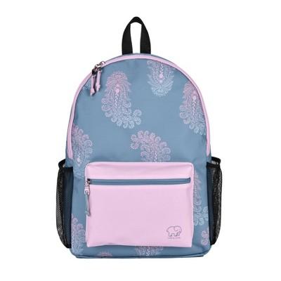 "Ivory Ella 17"" Lovely Paisley Backpack   Slate Blue/Magenta by Slate Blue/Magenta"
