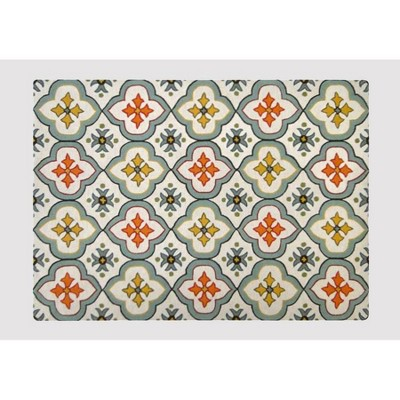 7'x10' Floral Bell Hand Tufted Indoor/Outdoor Area Rug Blue - Threshold™