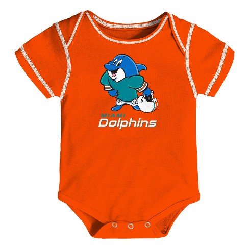 23ba32ee2 Miami Dolphins Boys  Newest Fan 3pk Bodysuit Set 12 M   Target
