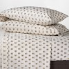 300 Thread Count Organic Cotton Printed Sheet Set - Threshold™ - image 2 of 4