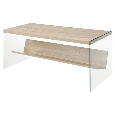 Soho Coffee Table Oak Convenience Concepts